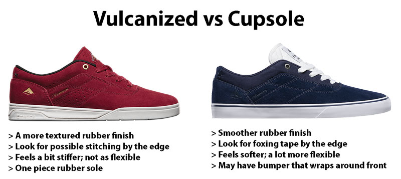 Vulcanized vs Cupsole - How to Choose Skate Shoes