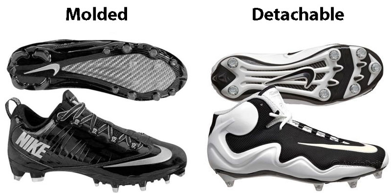 Molded vs Detachable Studs - How to Choose Football Cleats - Athlete Audit