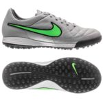 Nike Tiempo Legacy TF Indoor Soccer Shoe Review - Grey Green Side Sole