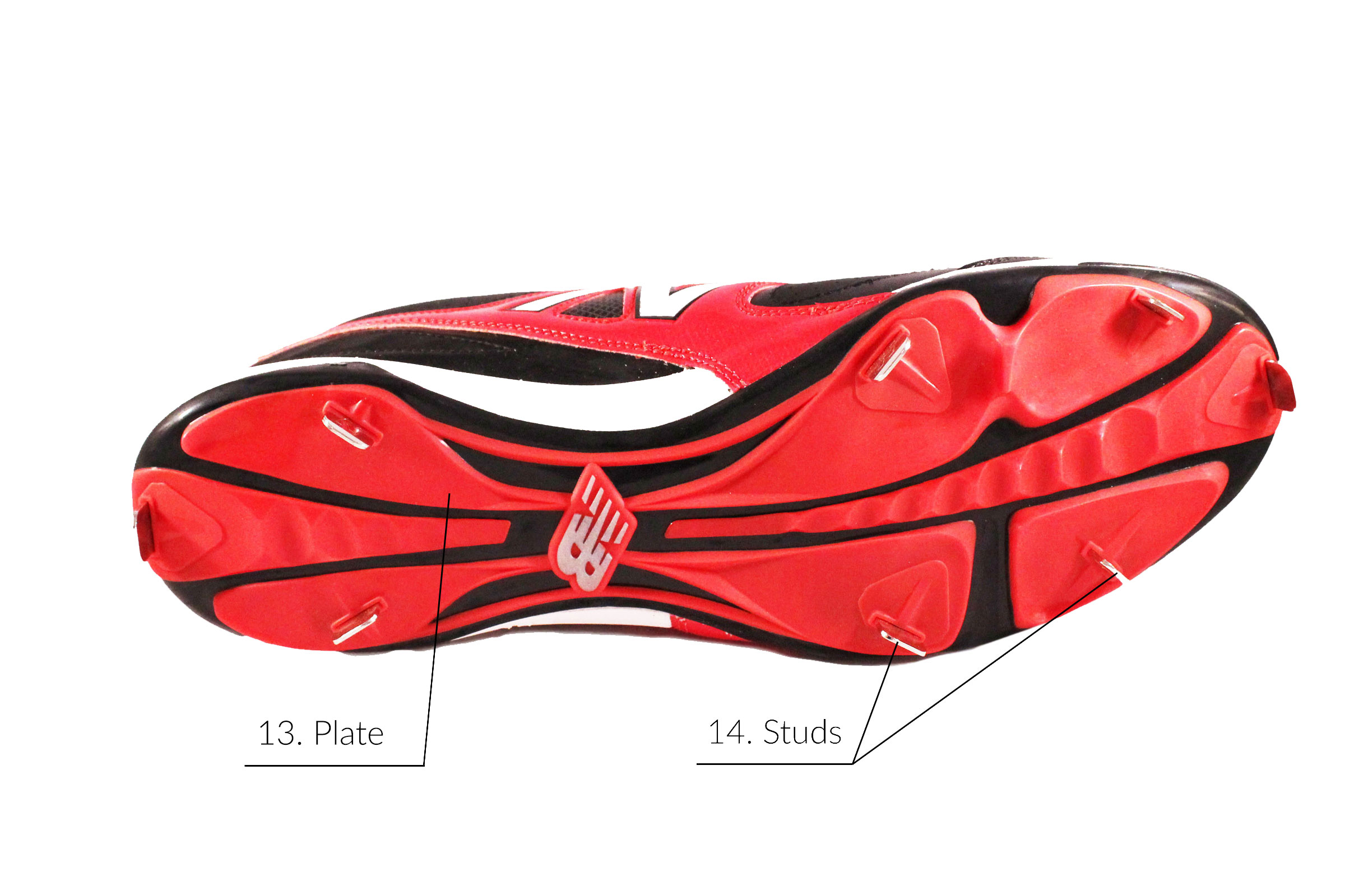 Parts of a Baseball Cleat - Outsole - Anatomy of an Athletic Shoe - Athlete Audit