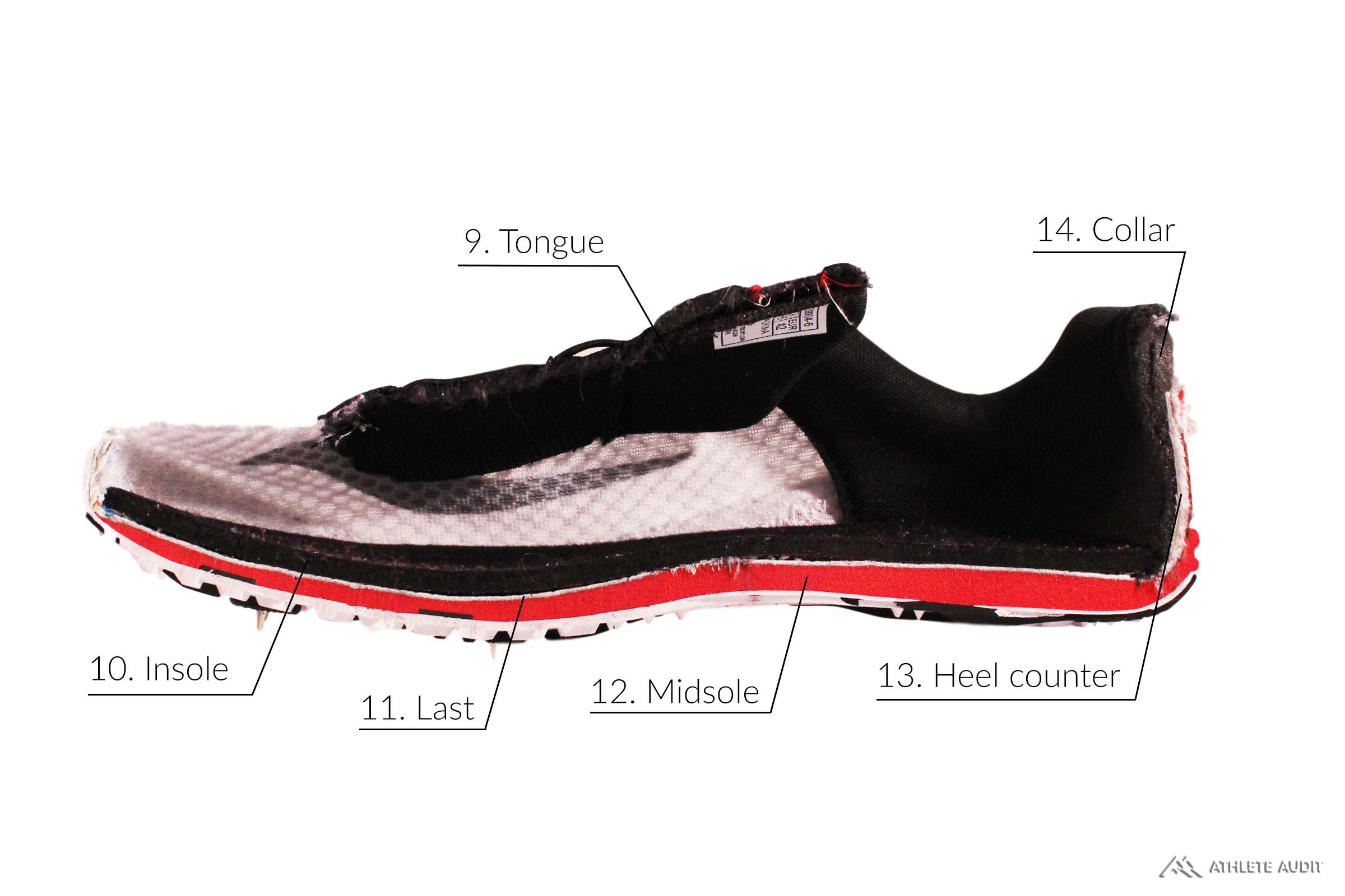 Parts of a Track Spike - Inside - Anatomy of an Athletic Shoe - Athlete Audit